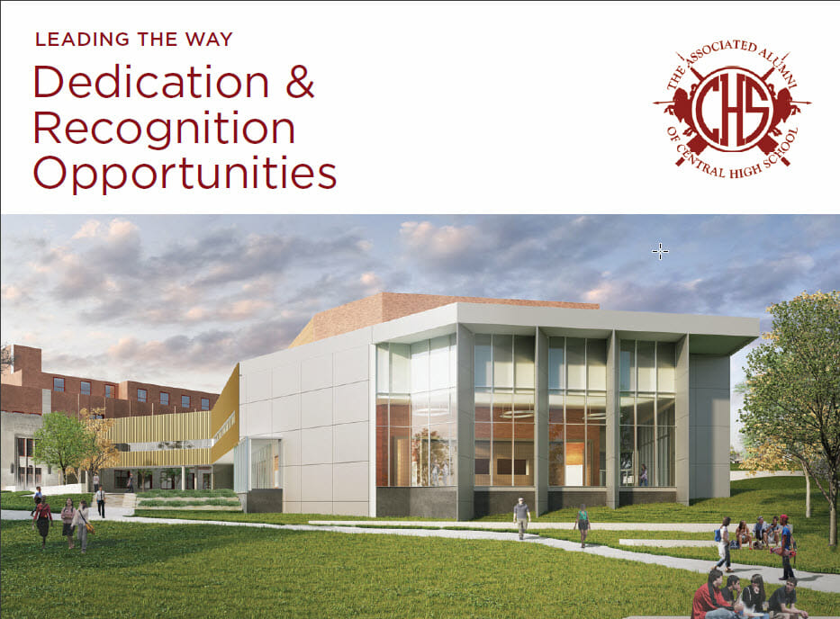 CHS dedication and recognition trifold thumbnail
