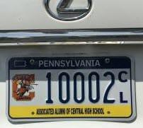 CHS License Plate