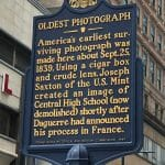 Pic of plaque -- taken near 13th and Chestnut by alum Jeff Thomas and posted on FB