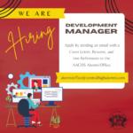 We're Hiring: Development Manager